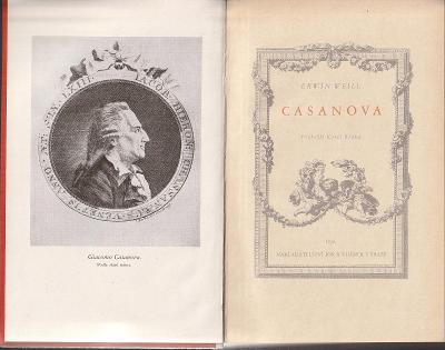 Erwin Weill: Casanova, 1936, přel. Karel Bláha