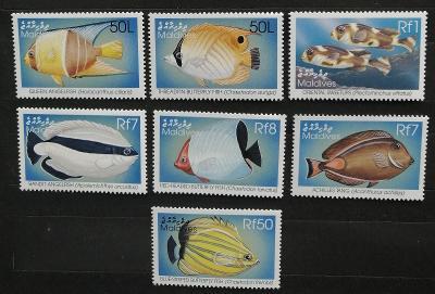 Maledivy 1998 Mi.3122-7 15€ Ostrovní korálové ryby, fauna moří