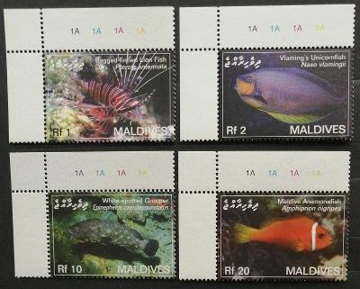 Maledivy 2007 Mi.4551-4 5,5€ Ostrovní ryby, perutýn, klaun, muréna