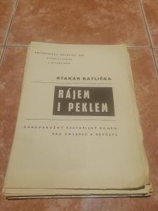 Otakar Batlička Rájem i peklem Knihovnička časopisu ABC 1968/1969