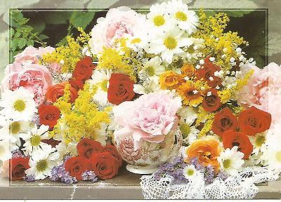 kytice růže kopretiny, foto DITIPO 5-2808°°
