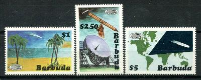 Barbuda 1986 6€ Objev Halleyovy komety, astronomie