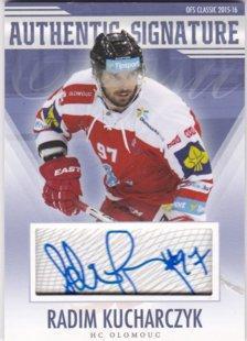 Hokejová karta Radim Kucharczyk OFS 15/16 S.I. Authentic Signature
