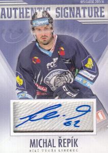 Hokejová karta MICHAL ŘEPÍK OFS 15/16 S.I. Authentic Signature