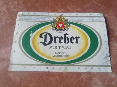 Dreber pivní etiketa