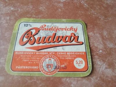 Budvar pivní etiketa