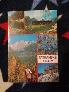 Pohlednice - Tatranské chaty, prošla poštou
