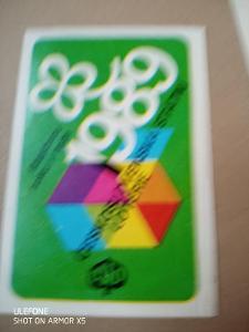 Kartičkové, kapesní kalendáříky - 1ks