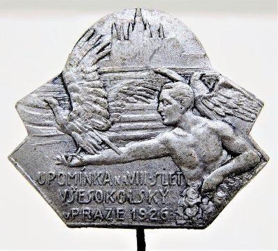 Odznak - Upomínka na VIII. slet všesokolský v Praze 1926