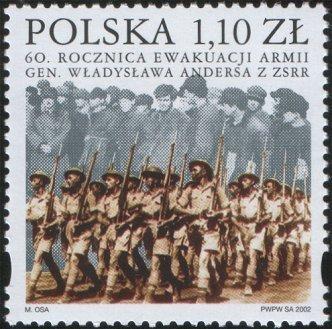 Polsko 2002 Známky Mi 3964 ** Druhá světová válka Andersova armáda