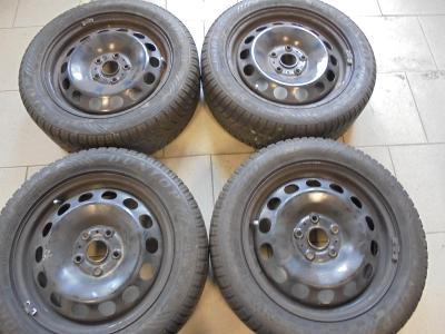 205 55 16 zimní+16 plech VW Golf, Škoda Octavia, Seat, 4kusy, ET48