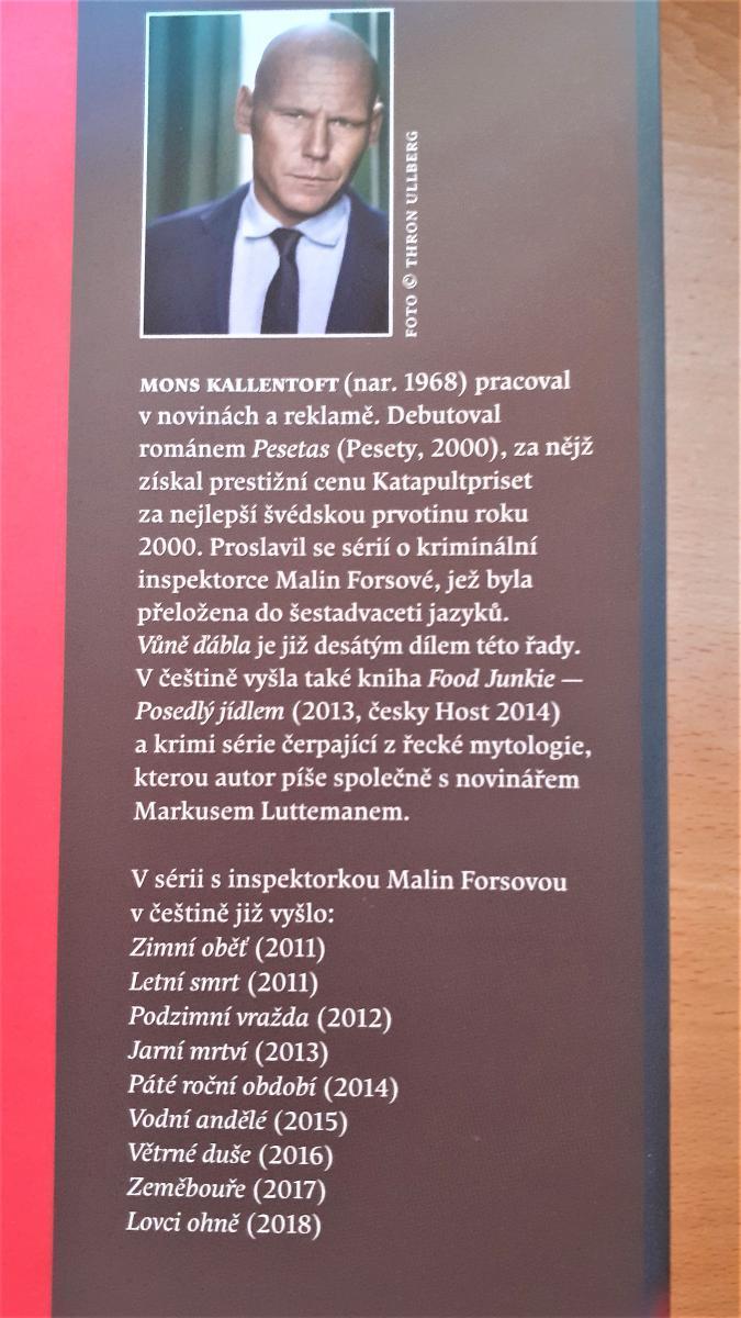 Vůně ďábla - Mons Kallentoft -  nová !!! - Knihy