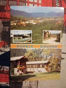 Pohlednice - Kúpele Brusno, prošla poštou