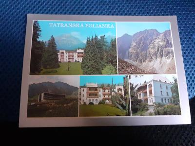 Pohlednice Tatranská Polianka,prošlé poštou.