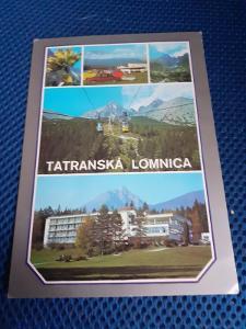 Pohlednice Tatranská Lomnica,prošlé poštou.