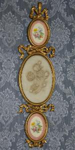 Zámecké medailony - porcelán + alabastr