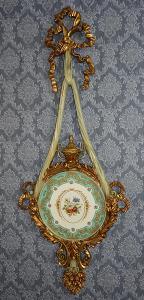 Zámecký medailon - porcelán