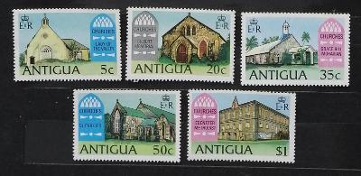 Antigua & Barbuda 1975 Ostrovní kostely a církve, stavby