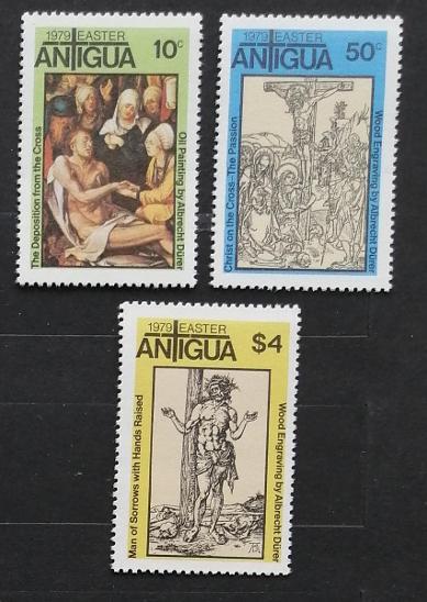 Antigua & Barbuda 1979 Velikonoce a umění - Filatelie