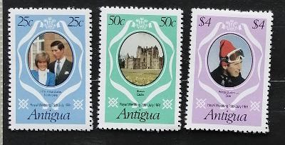 Antigua & Barbuda 1981 Svatba Diany a Charlese