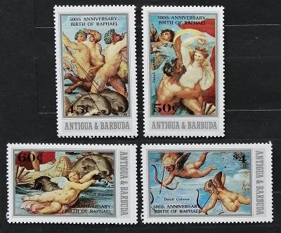 Antigua & Barbuda 1983 500 let malíře Raffaela