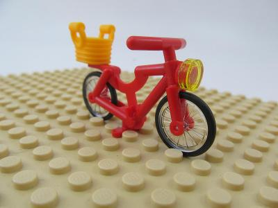 Lego KOLO ČERVENÉ jizdni kolo cena 59.- / 1 ks