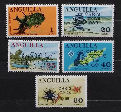Anguilla 1969 Přetisky Vánoc