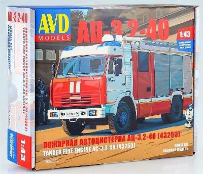 AVD / SSM 1269 Ruský hasičský vůz AC-3.2-40 na KamAZ-43523 / 1 :43