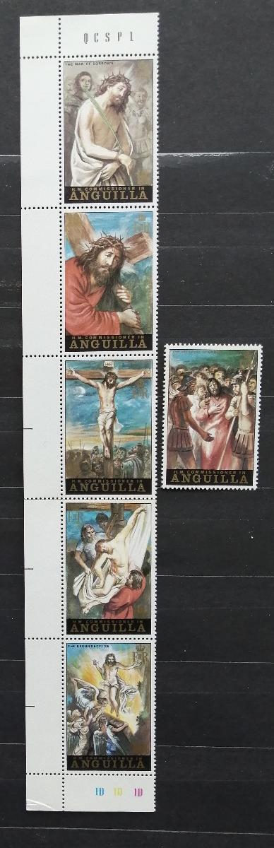Anguilla 1973 Velikonoce a umění v pásce