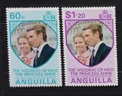 Anguilla 1973 Královská svatba princezny Anne