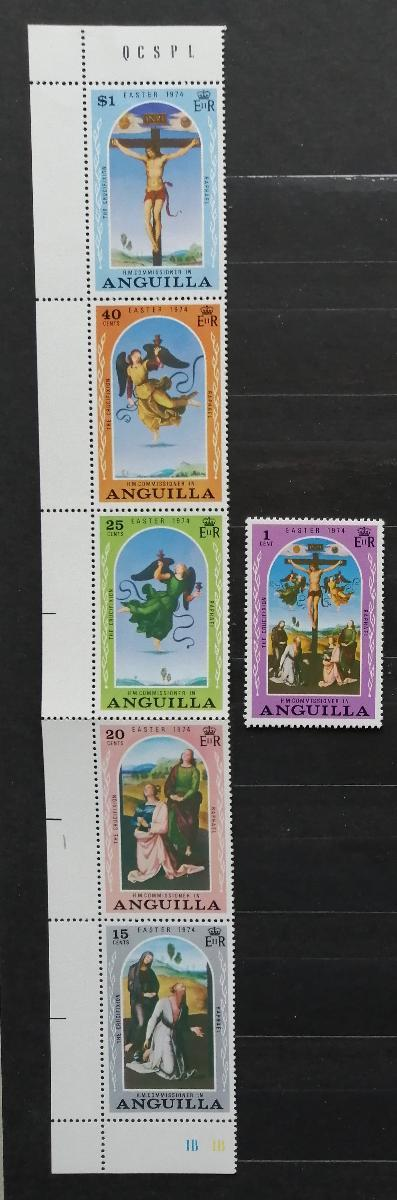 Anguilla 1974 Velikonoce a umění v pásce