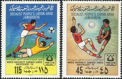 Libye 1979 Mi.752-3 3€ Univerzitní letní hry, sport, fotbal