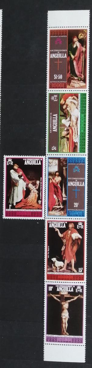 Anguilla 1975 Velikonoce a umění v pásce