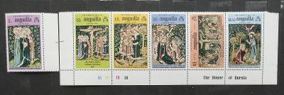 Anguilla 1976 Velikonoce a umění v pásce