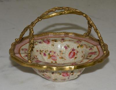 Zámecká miska - porcelán + bronz-KRÁSNÁ