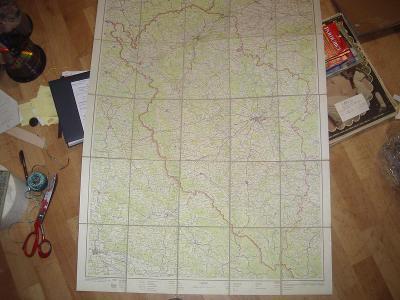 2 staré velké mapy-Západočeský a Severomoravský kraj