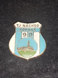 odznak TJ Náchod kopaná 90 let