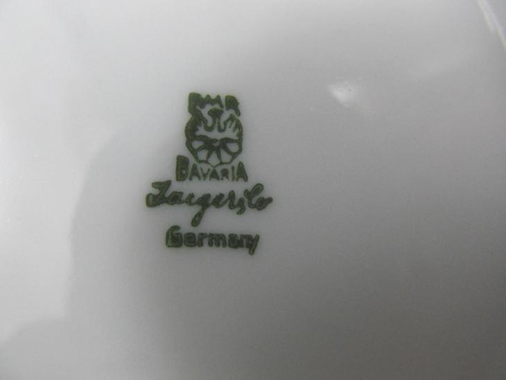 Kávová Čajová souprava bila se zlatom zn PMR BAVARIA - Zařízení