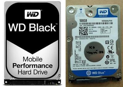"2,5"" disk do notebooku 500GB WD Scorpio BLACK, BLUE  na ND nebo opravu"
