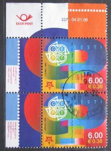 Estonsko 2006 Výročí Evropa CEPT, 50. výročí pár Mi# 537 0684