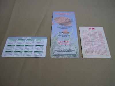 Kartičkové kalendáříky 3ks