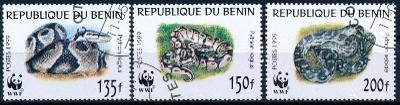 Benin 1999 ʘ/ Mi. 1159-61 WWF , hadi  , /L22/