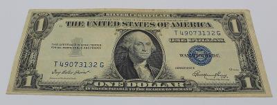 1 dollar USA  1935 silver certificate Z OBĚHU  stav 2-4