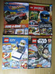 časopis Lego Ninjago & Lego Batman & Lego City & Lego Star Wars 17 ks