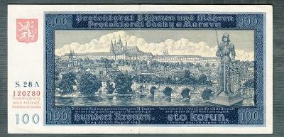 100 korun 1940 PRVNÍ VYDÁNÍ NEPERFOROVANA