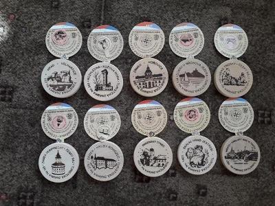 set turistické známky