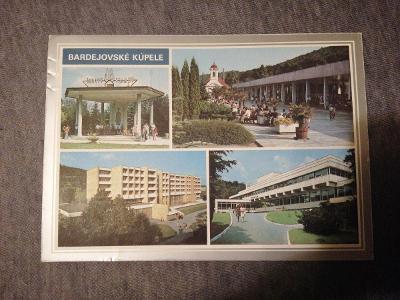 Pohlednice - Bardejovské kúpele, prošla poštou