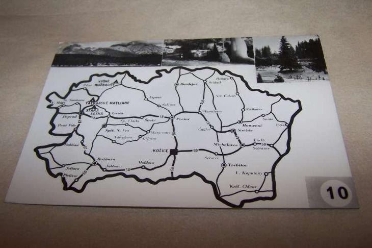 VYŠNÉ RUŽBACHY STARÁ LESNÁ TATRANSKÉ MATLIARE mapa č.10 /B162/ - Pohlednice