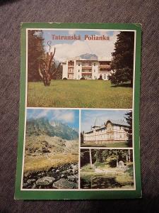Pohlednice - Tatranská Polianka, prošla poštou