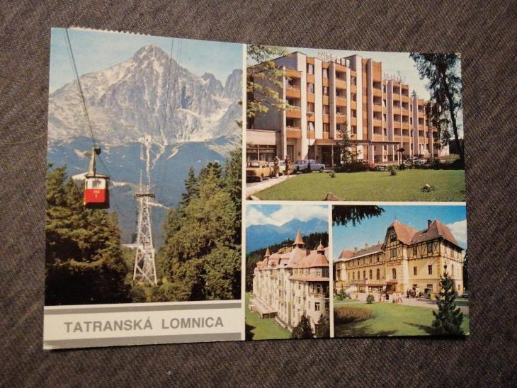 Pohlednice - Tatranská Lomnica, prošla poštou  - Pohlednice